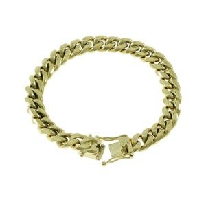 Harlembling 14k Gold Cuban Miami Link Bracelet